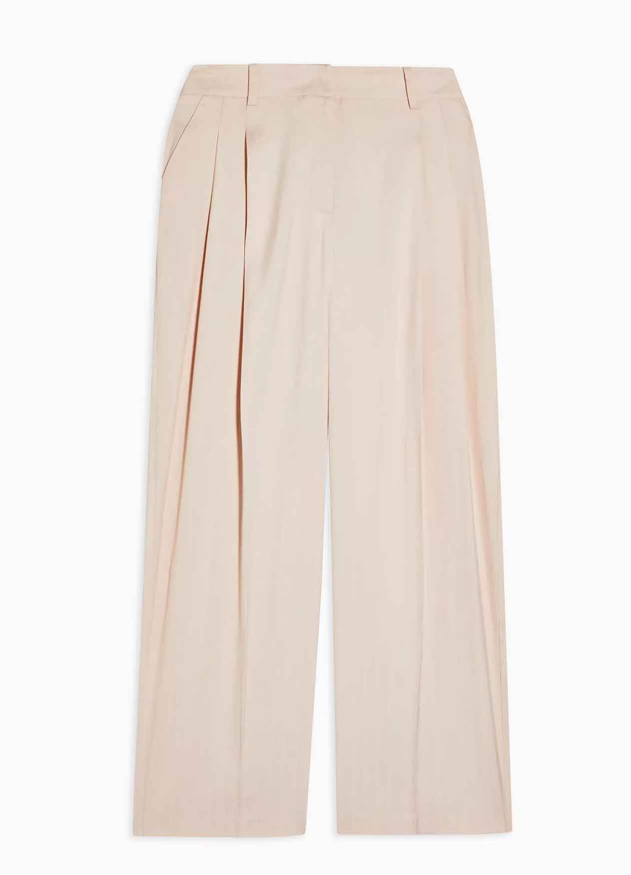 beige wide leg trousers