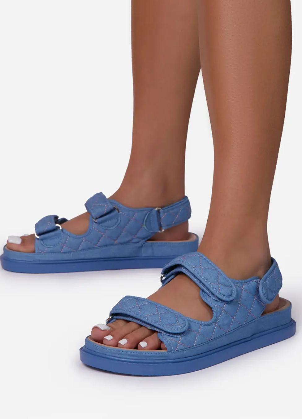 chanel dad sandals denim dupe