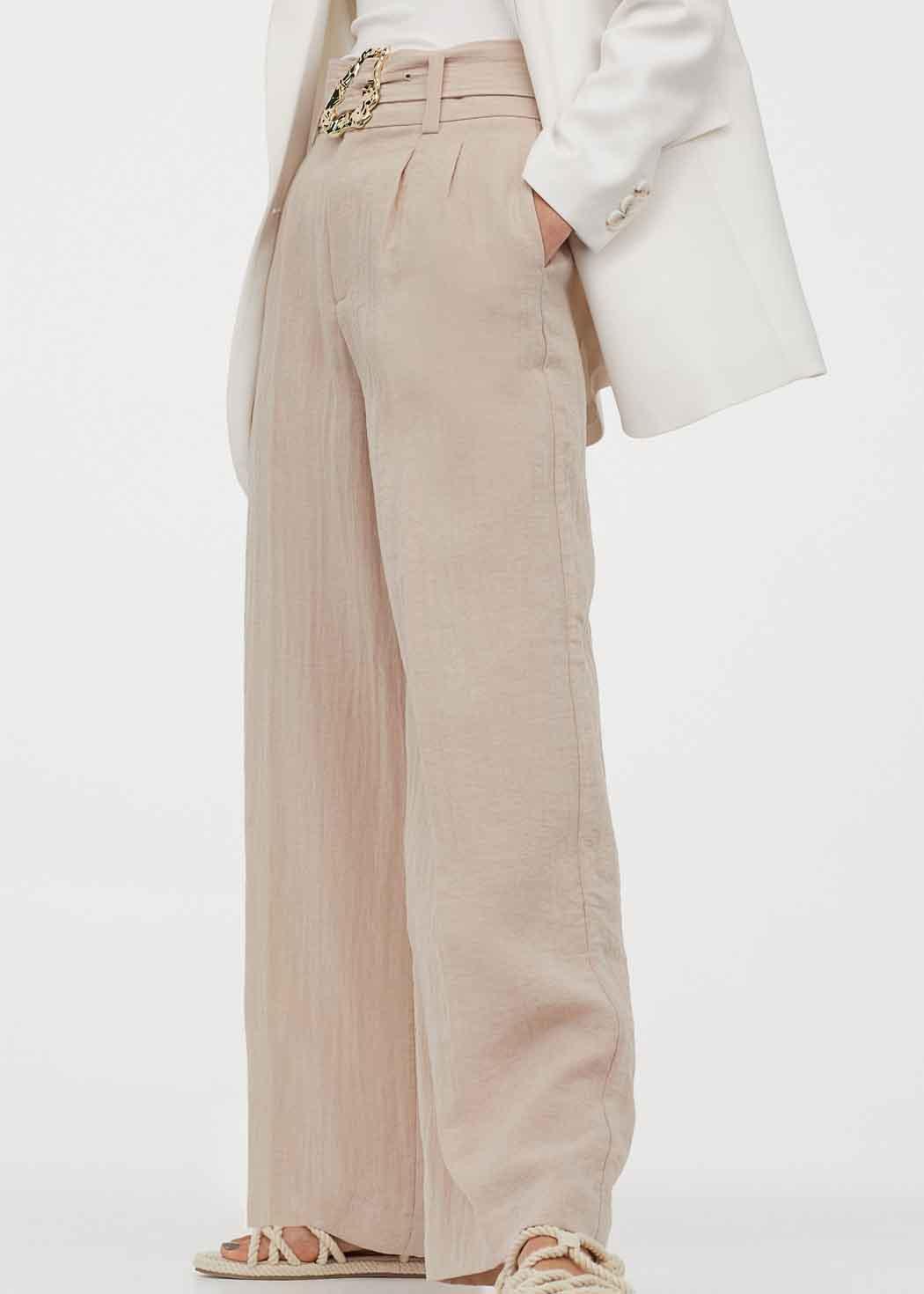 h&M beige trousers