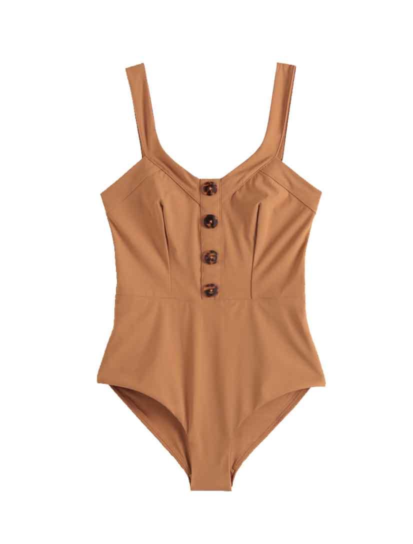 button swimsuit