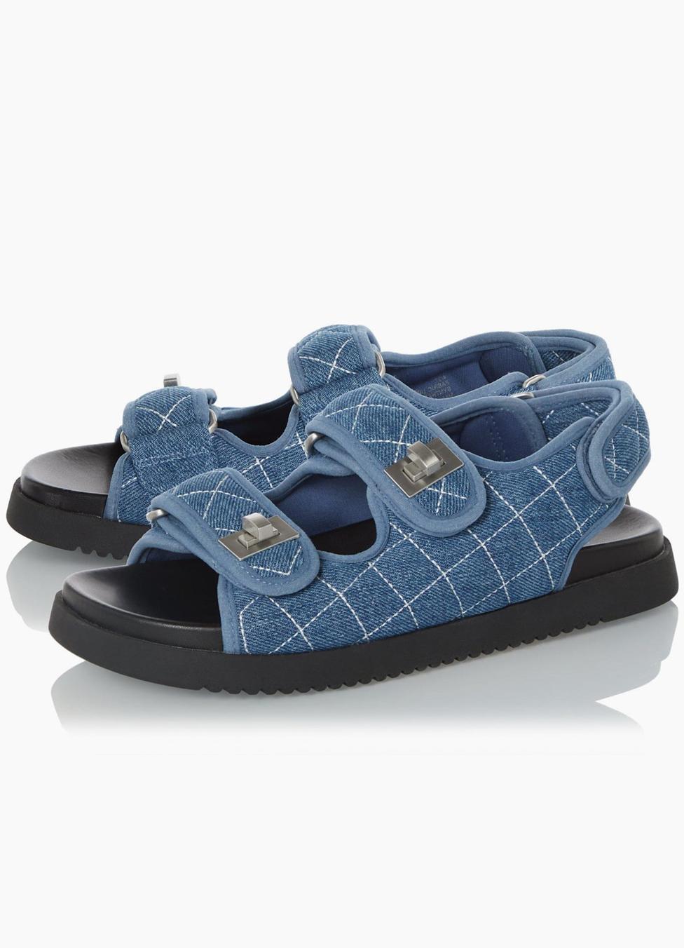 chanel denim dad sandals dupe