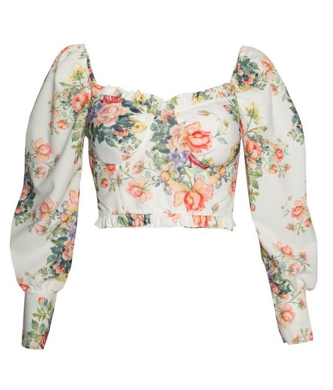 floral crop top