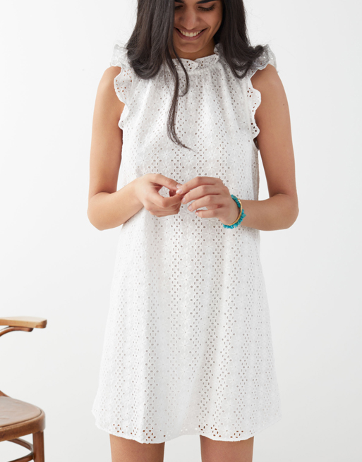 broderie white dress