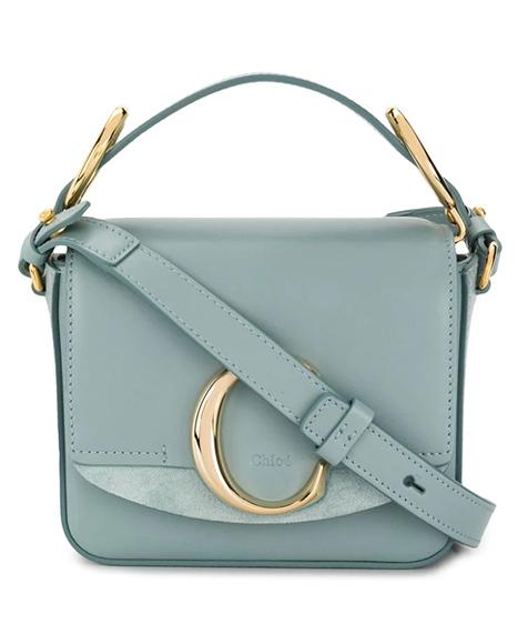 chloe c bag blue sale