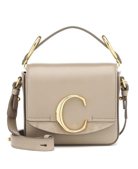 chloe c mini bag beige