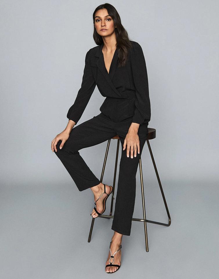 black jumpsuit reiss sale