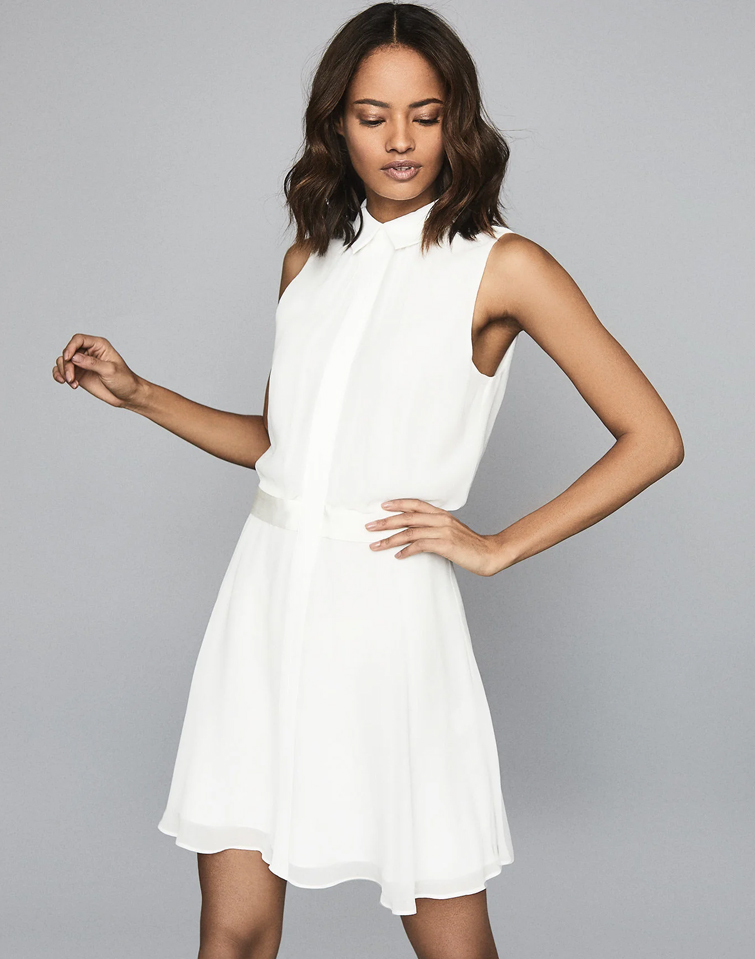 white dress reiss
