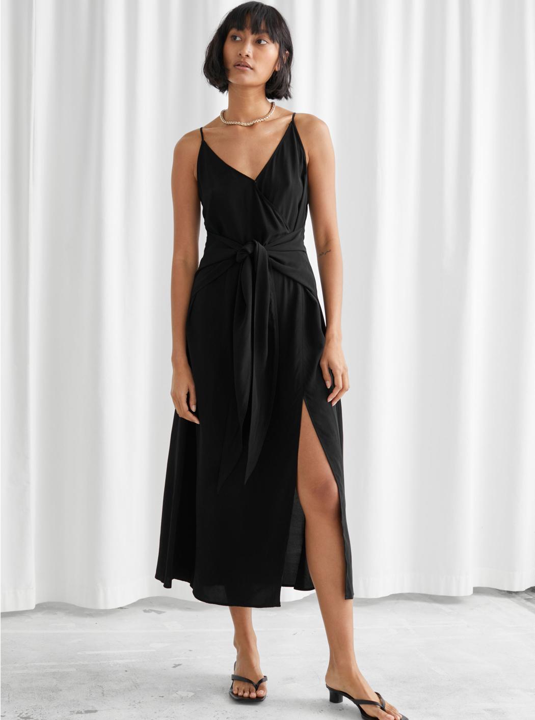 opeb side black dress
