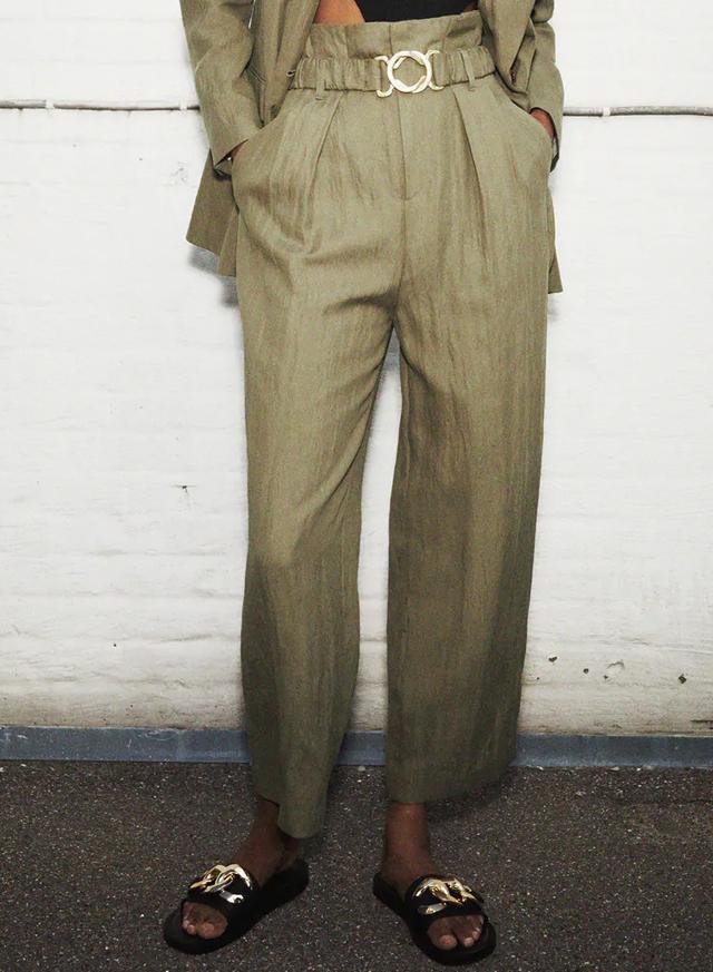 buckled trousers zara