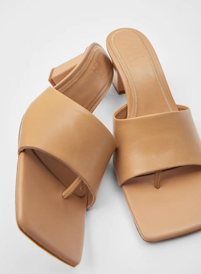leather mules zara