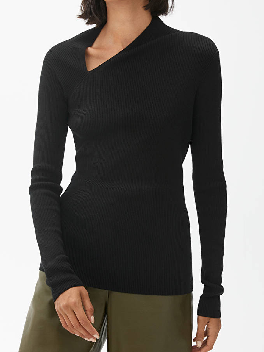 asymetric black top