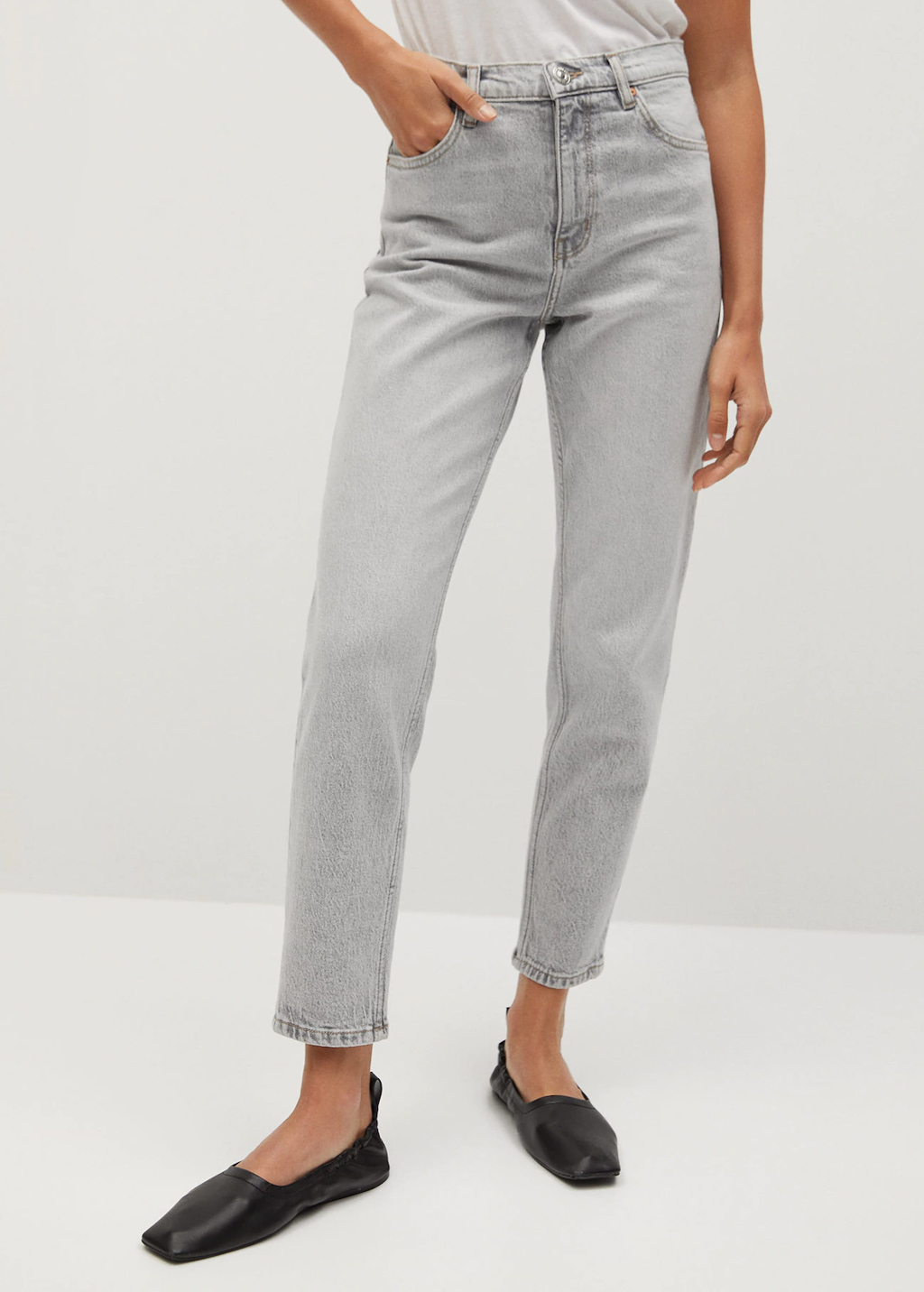 grey mom jeans