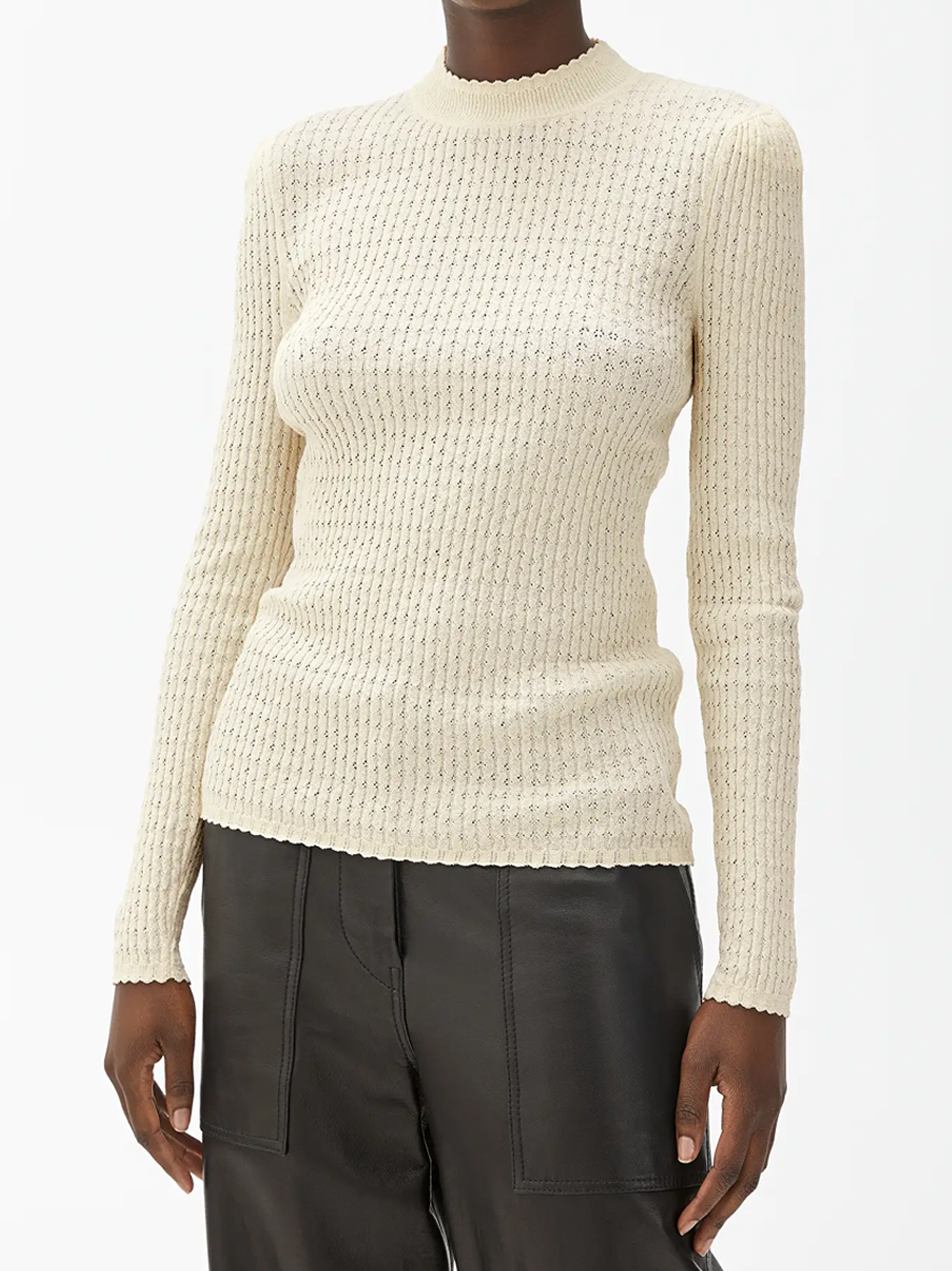 creamy turtleneck top