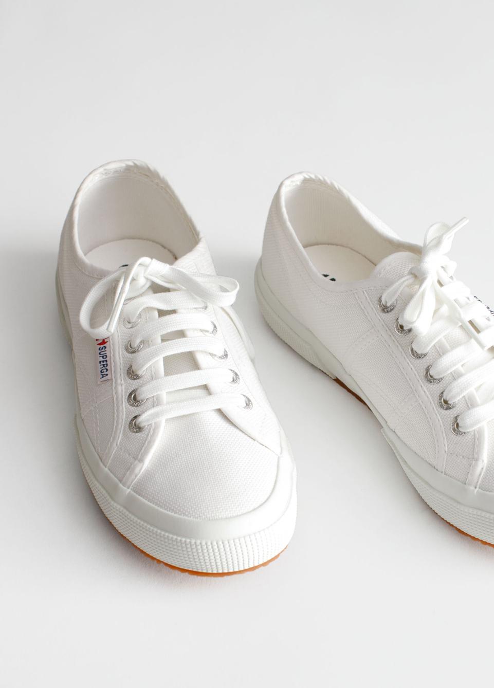 white superga trainers