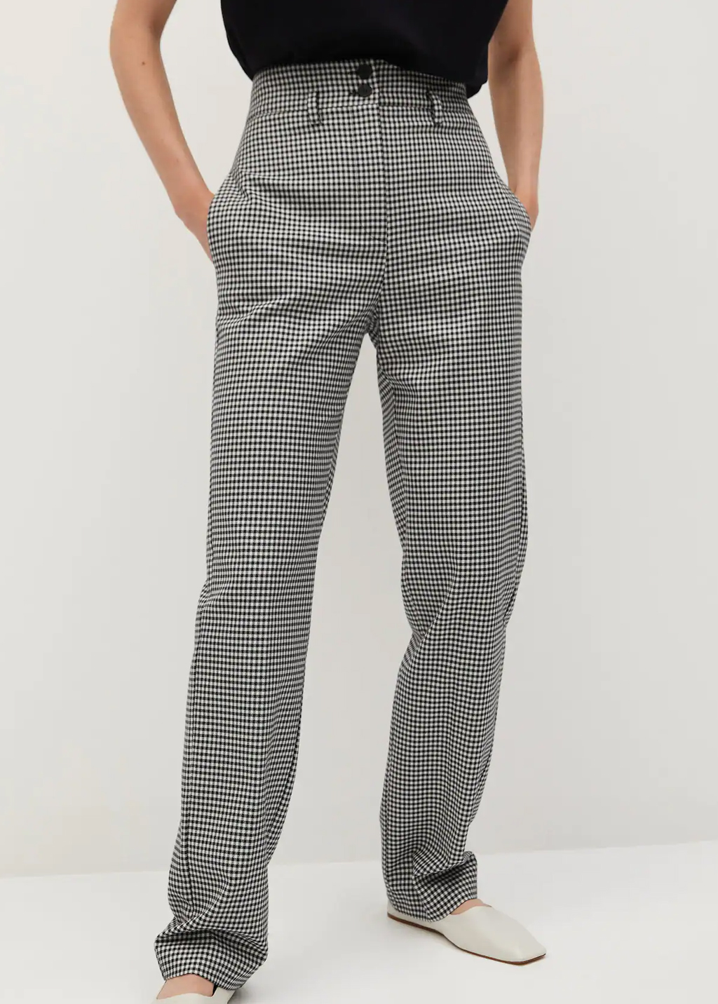 check trousers mango
