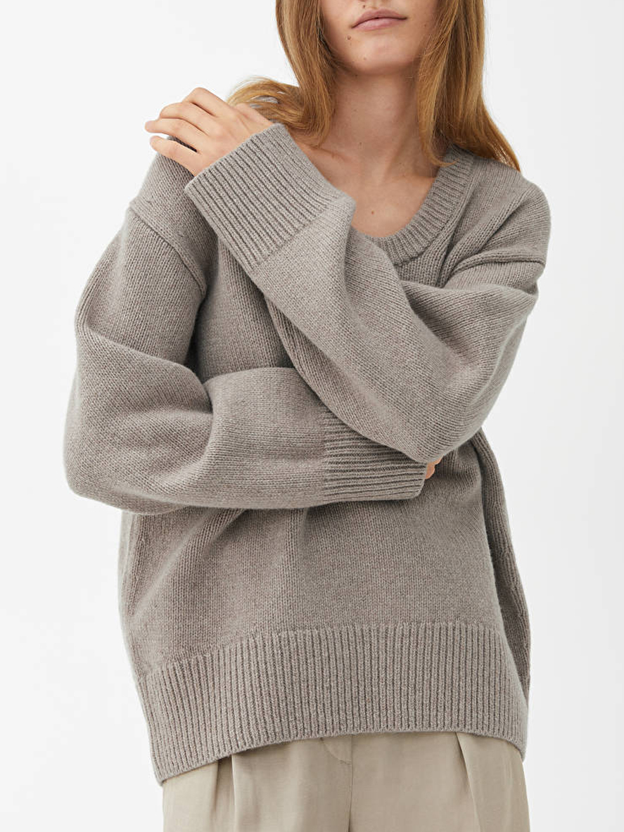 oversized wool jumper