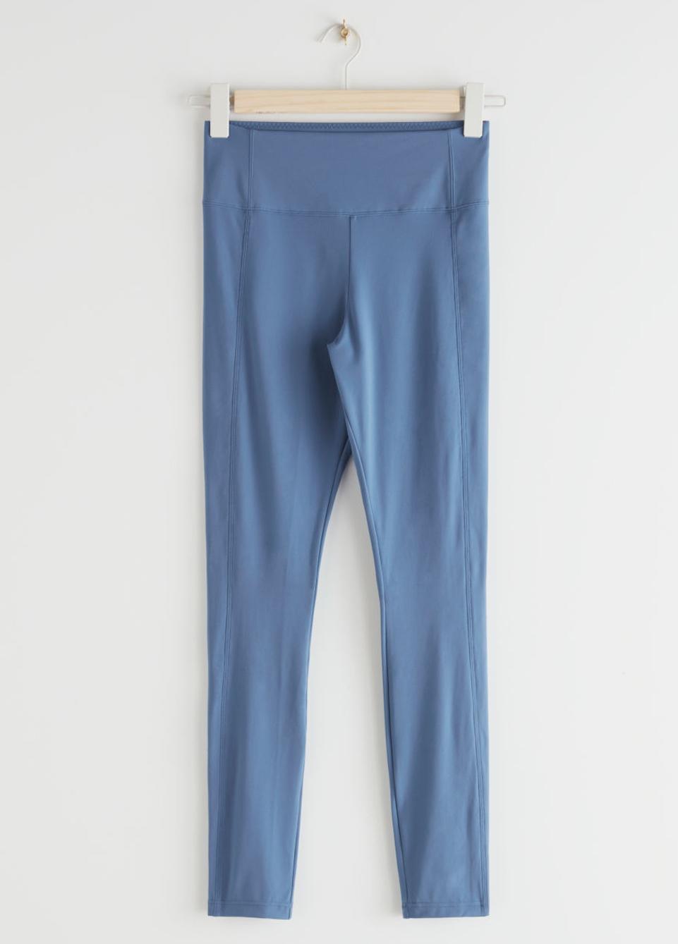 blue yoga trousers
