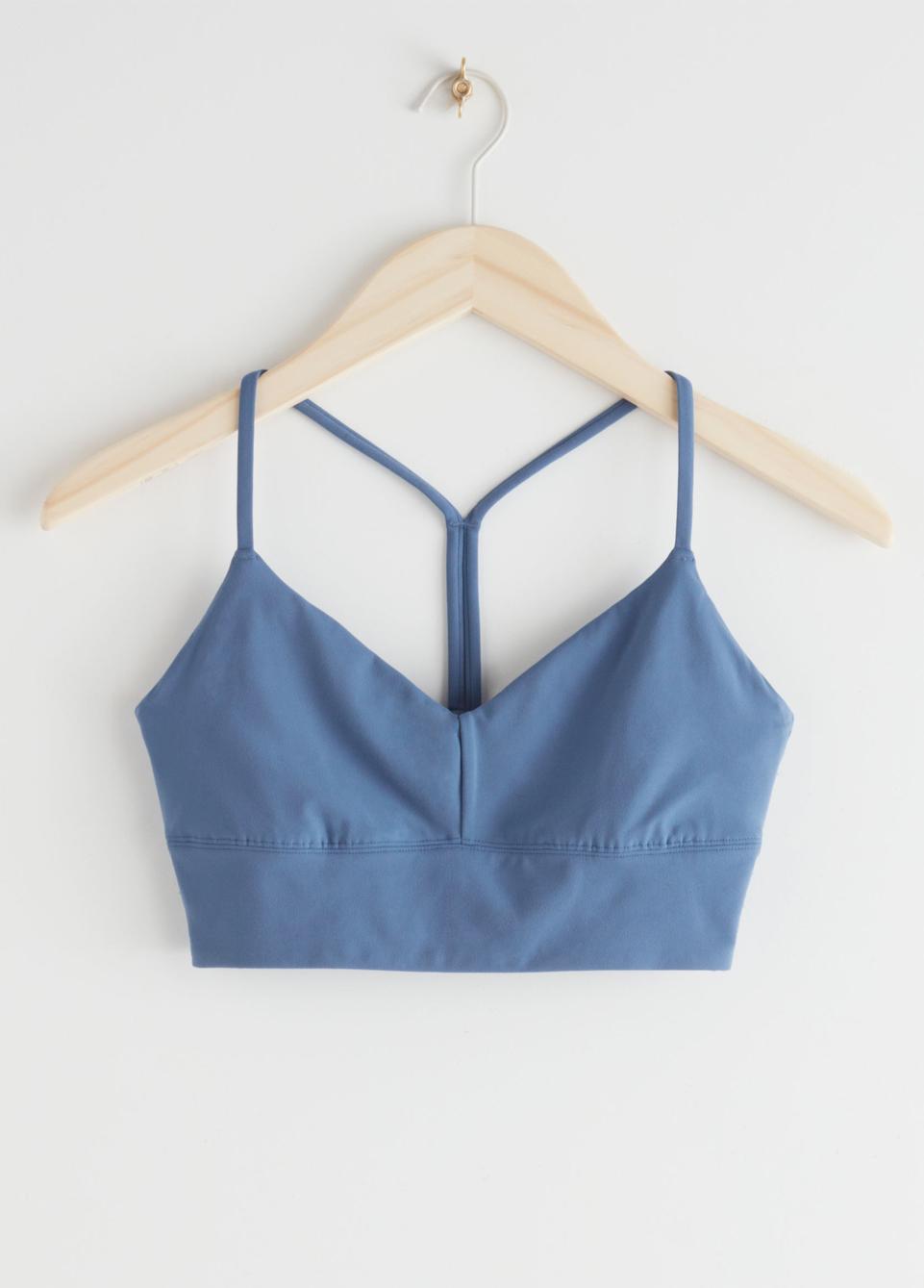 blue yoga bra