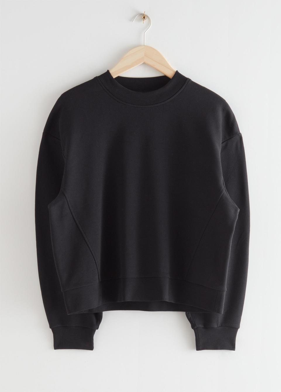 black jersey jumper