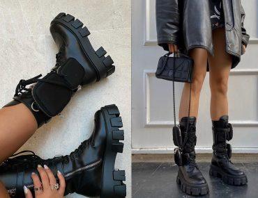 prada monolith boots dupe