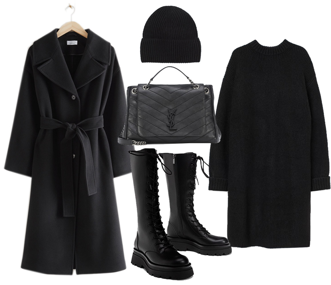 total black outfit ideas for women