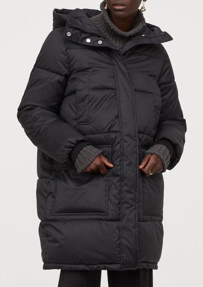 black puffer coat h&M