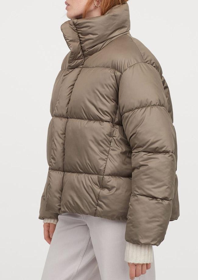khaki puffer jacket womens