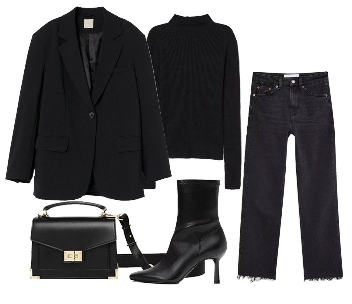 total black outfit ideas for woman