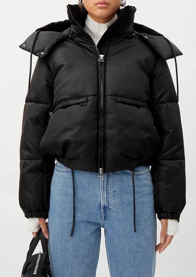 black puffer jacket weekday