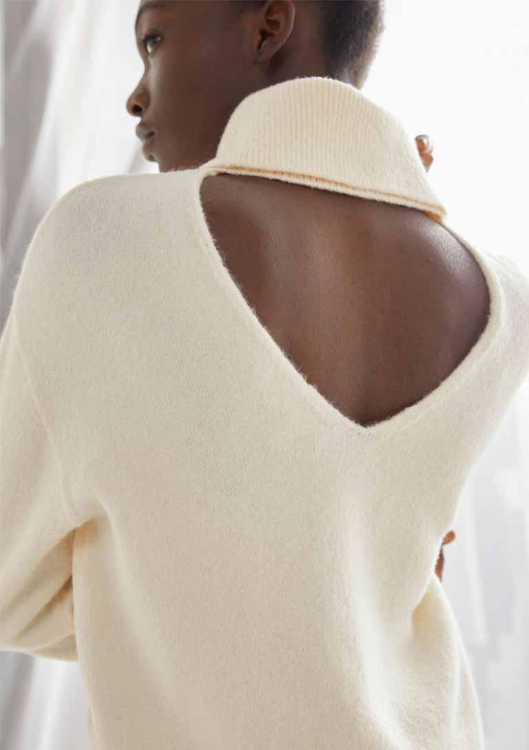 open back jumper