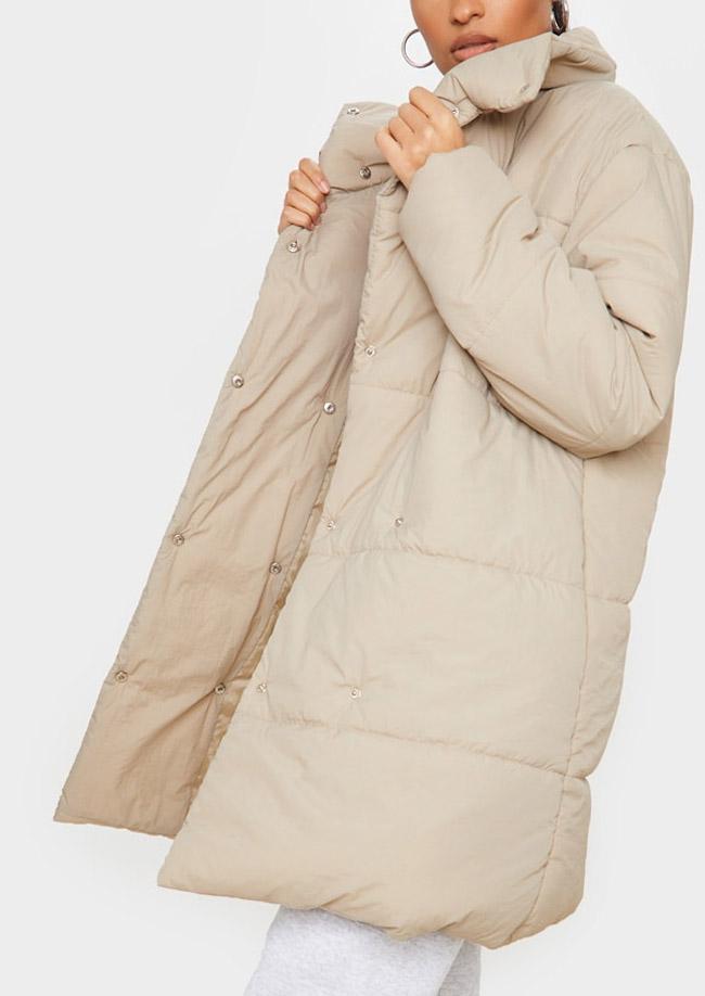 beige puffer coat plt