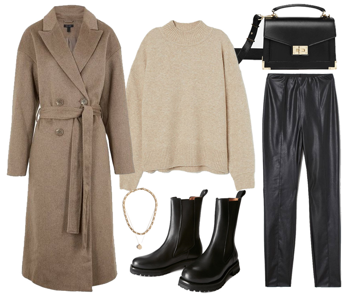 leather leggings outfit idea