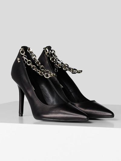 karl lagerfeld black heels