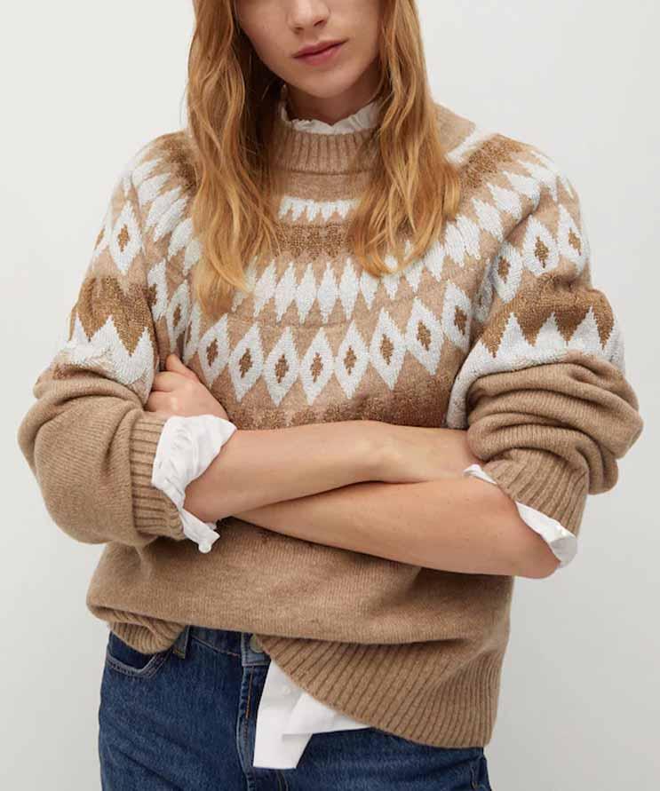 mango christmas sweater
