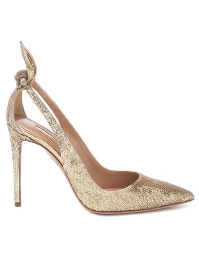 gold sequin heels