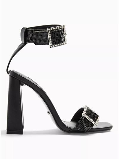 black heeled sandals topshop