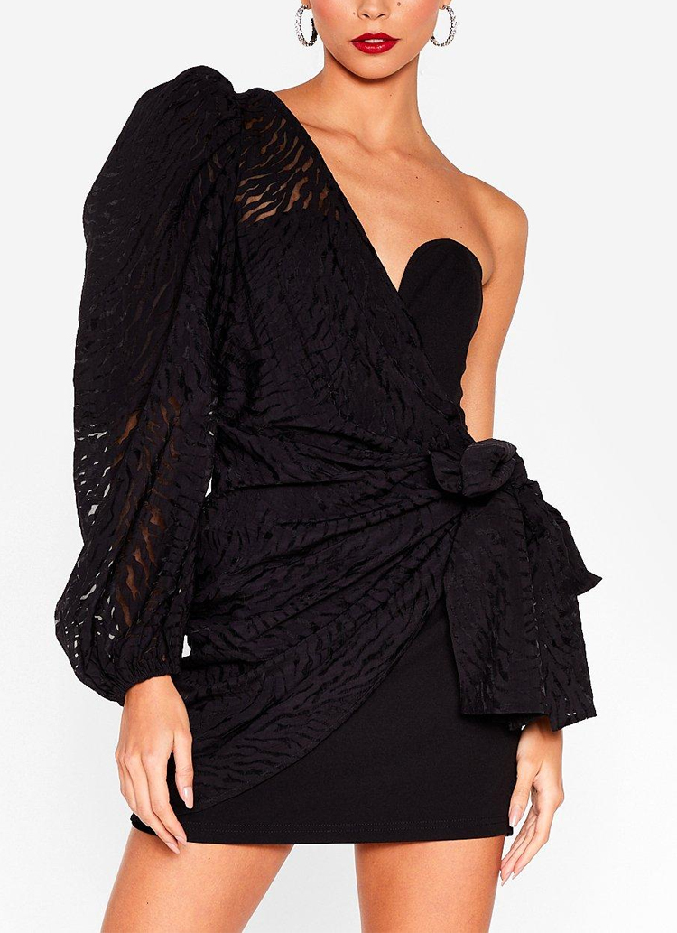 one shoulder dress nasty gal