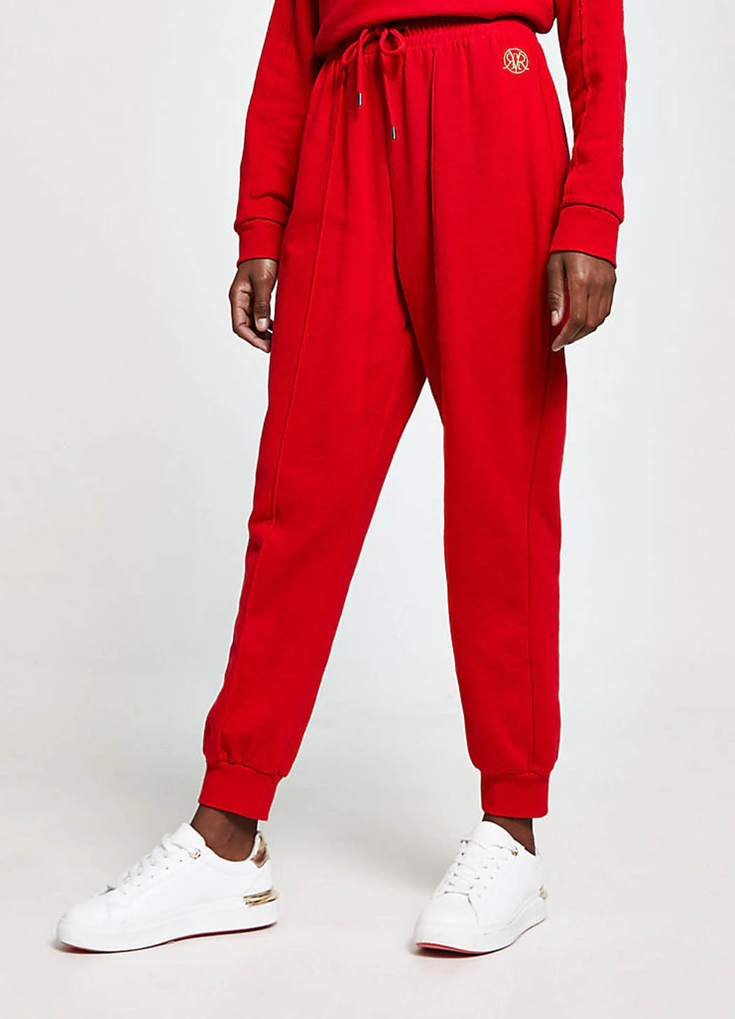 red joggers women