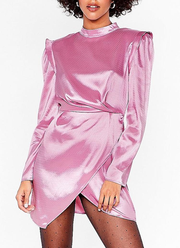 pink mini party dress nasty gal