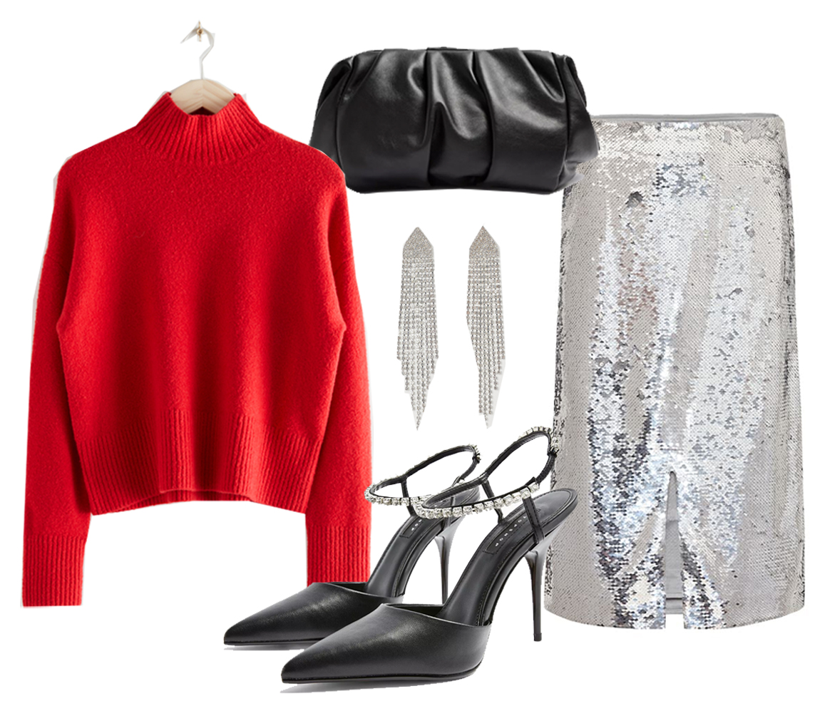 christmas outfit idea for woman