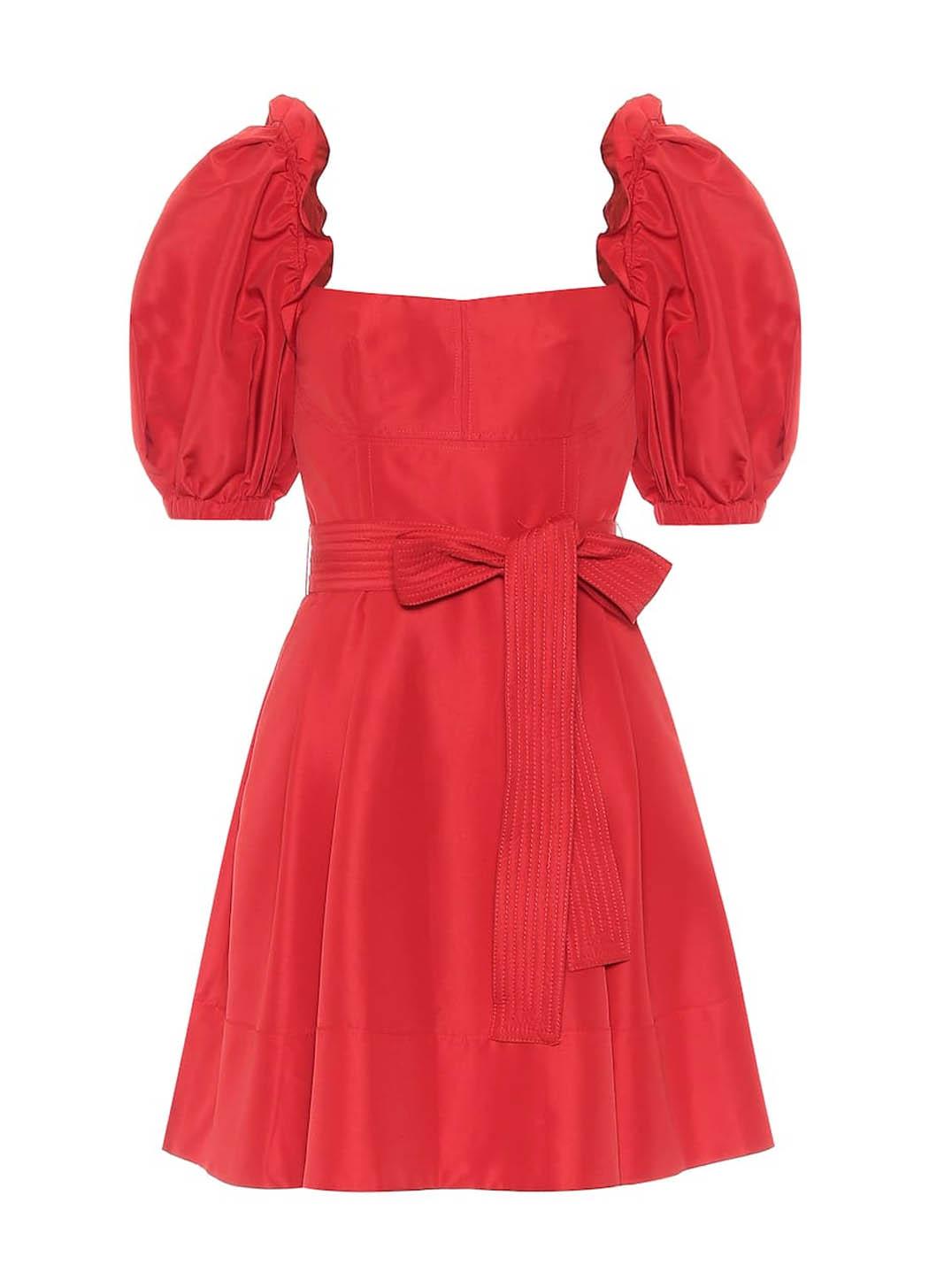 red self portraite dress