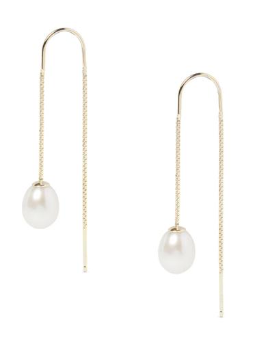 long gold pearl earrings