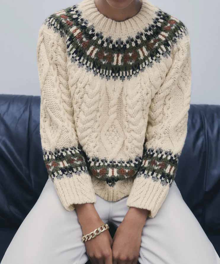 zara christmas sweater