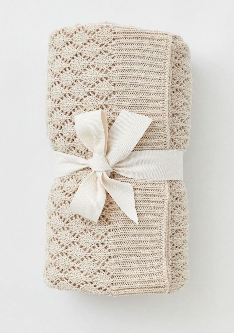 knit blanket H&M