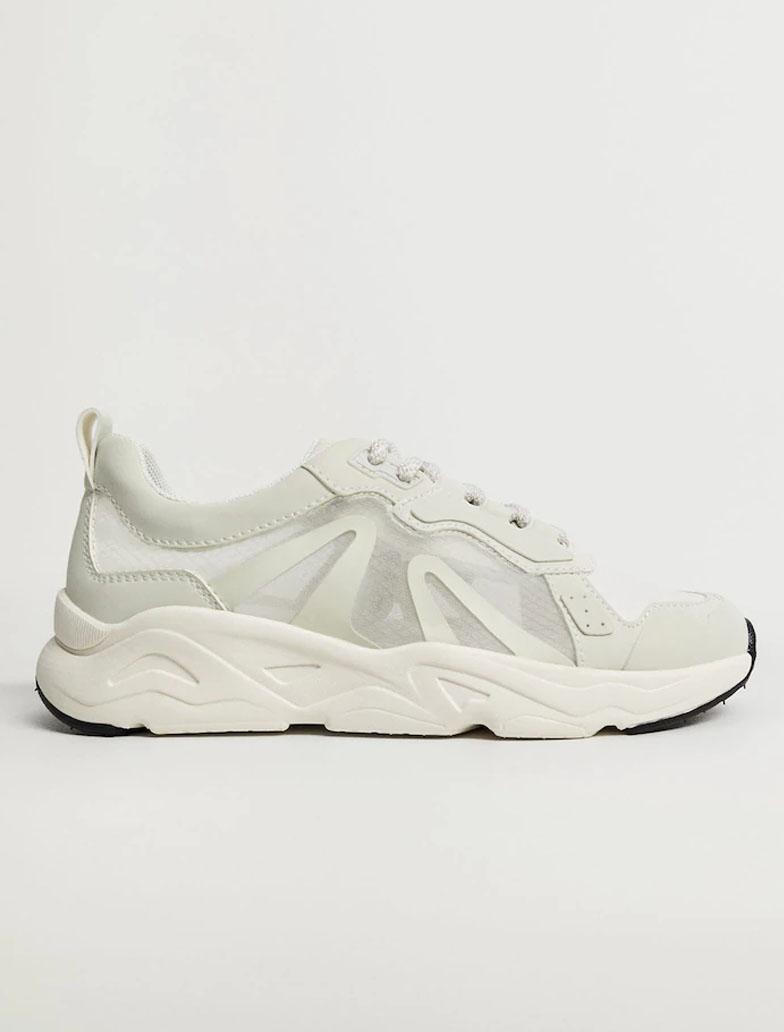 white mango transparent trainers