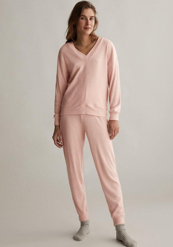 oysho pink pyjama