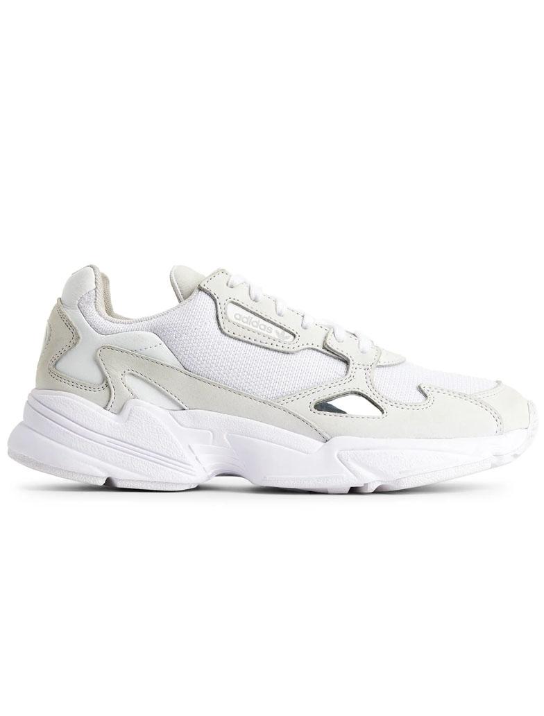 adidas falcon white trainers