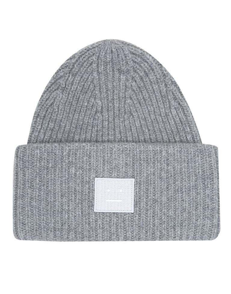 grey acne studio beanie hat