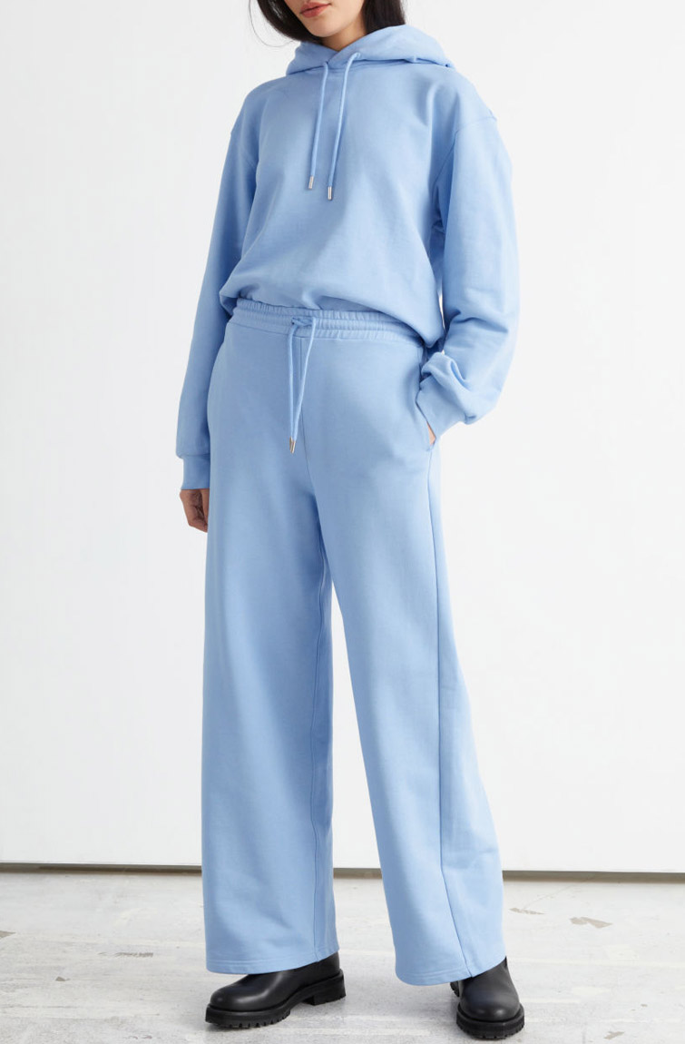 blue tracksuit woman