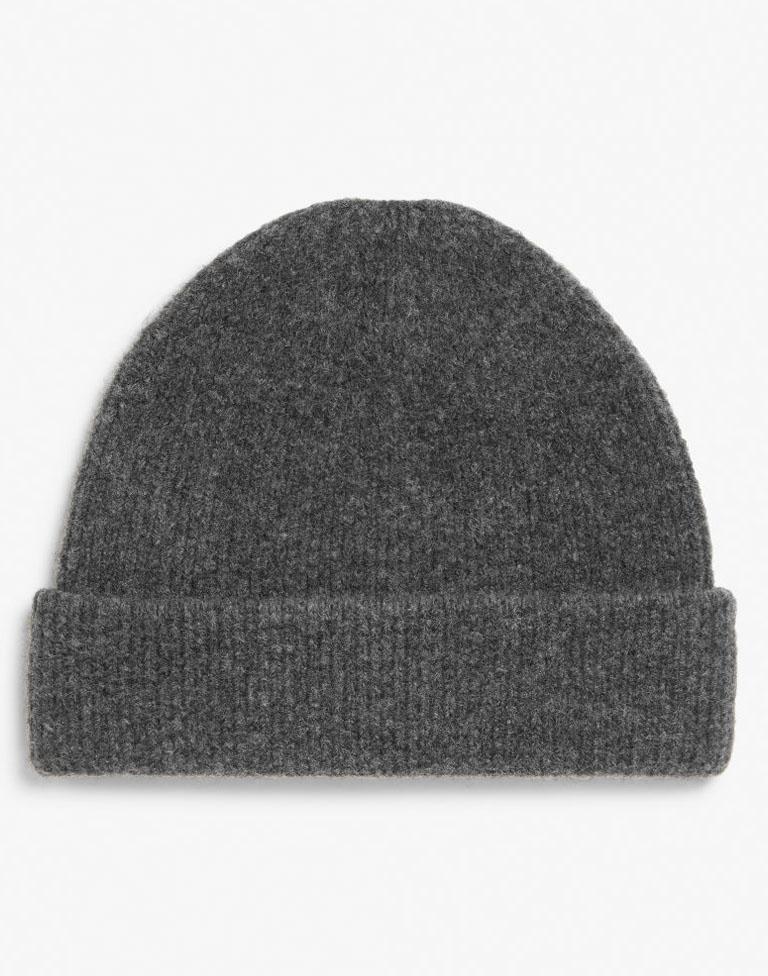 monki grey beanie hat